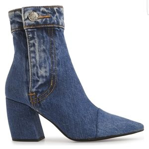 "Jeffrey Campbell Denim ""Finite"" Bootie"